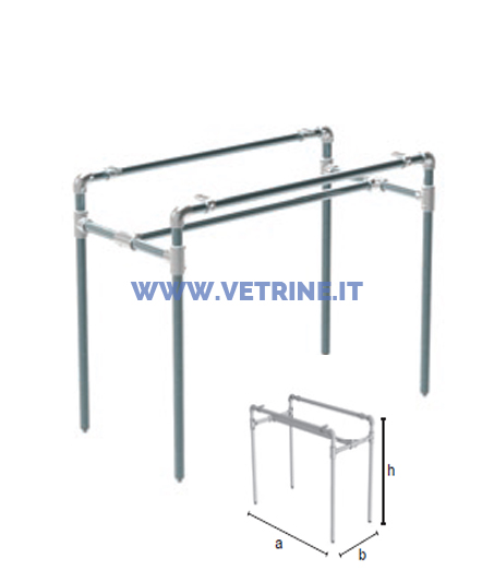 Struttura per tavolo tubo idraulico 01527 tutto per for Piani d ufficio di 1200 piedi quadrati