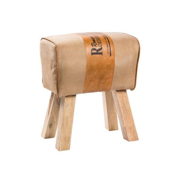 Sgabello legno e cuoio 02318 tutto per for Sgabelli per negozi